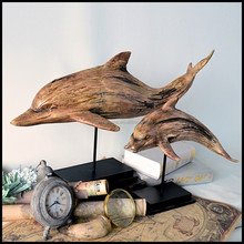 Factory Directly Resin Supplies dolphin sculpture With Dolphin Beach Decorfor Table Decor
