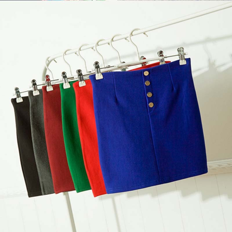 W11043 new factory direct elastic Slim skirts Korean office lady short skirts
