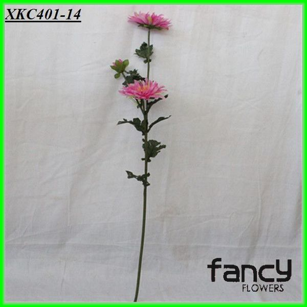 2 heads long single stem pink spider daisy flower