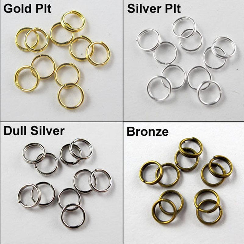8mm Wholesale DIY Charms Jewelry Finding Open Jump Rings Silver Metal Split Ring for jewelry making