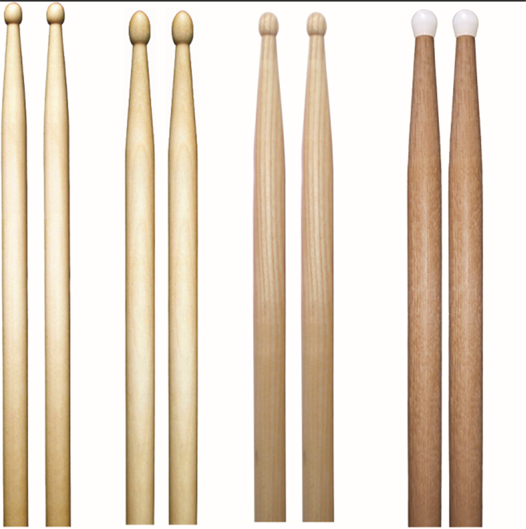 Groothandel musical marching snare maple hout nylon tips drum sticks in bulk