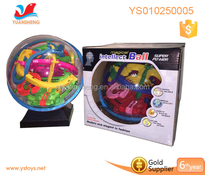 Educational game for children magic intellect ball toys 138 path finding super perplexus sphere ball