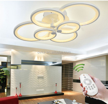 2019 new design home lighting dimmable led chandeliers & pendant lights with remote control
