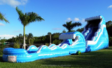 custom water slip n slide inflatable wet sliding