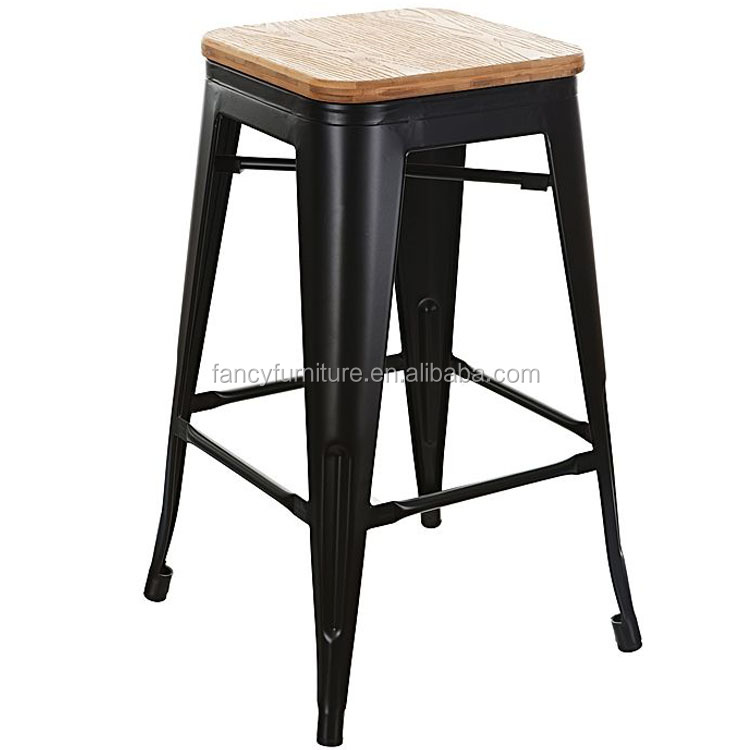 Groovy New Style Stackable Industrial Vintage Wooden Seat Metal Bar Stool For Sale Buy Metal Bar Stool Vintage Bar Stool Industrial Bar Stool Product On Forskolin Free Trial Chair Design Images Forskolin Free Trialorg