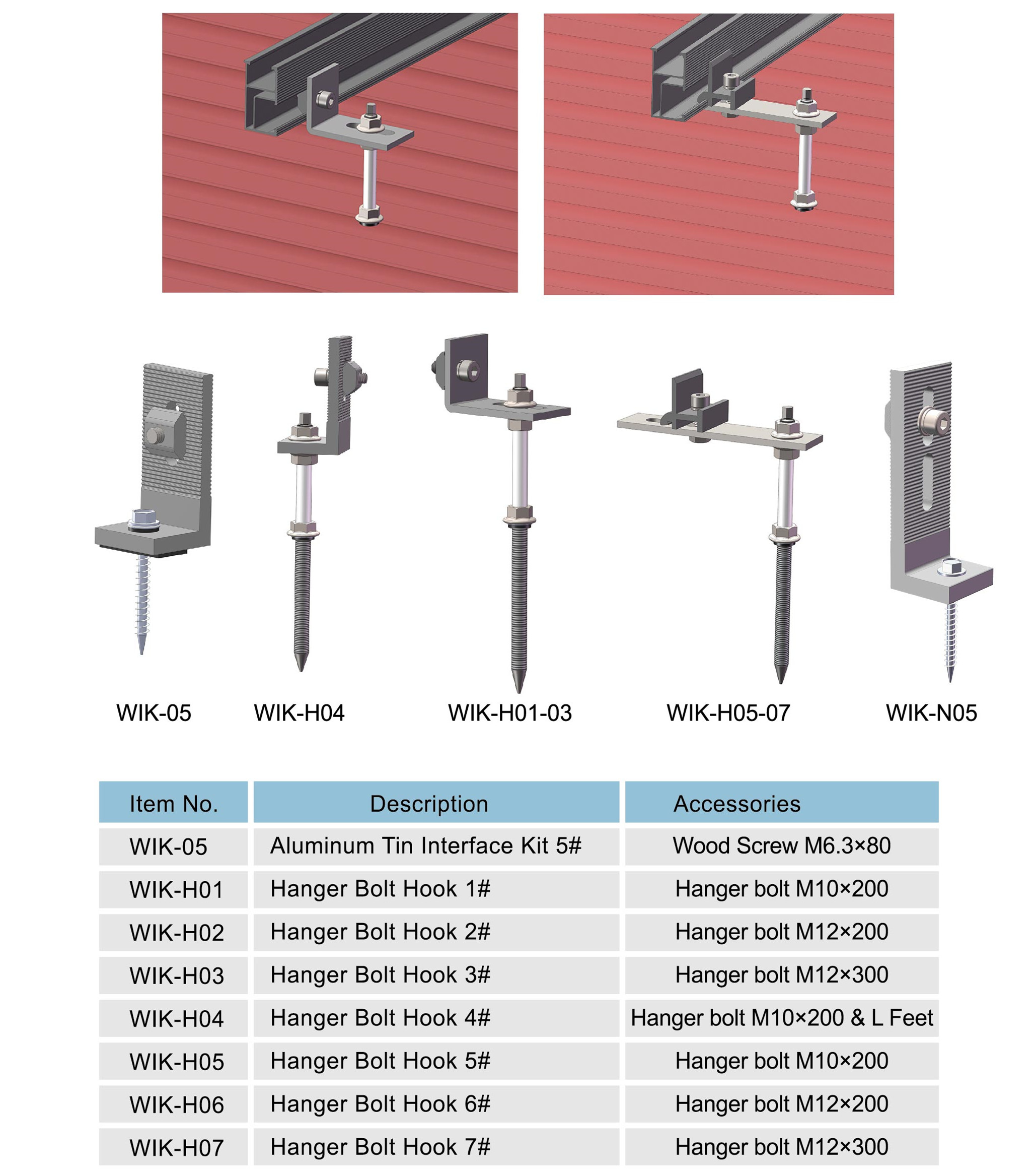 Stainless Steel Solar Hook Bolts Roofing Manufacturers And
