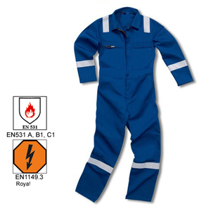 Worker Uniform Long Sleeve Reflective Stripe Coverall