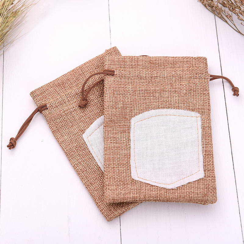Free sample wedding gift packaging jute burlap bag