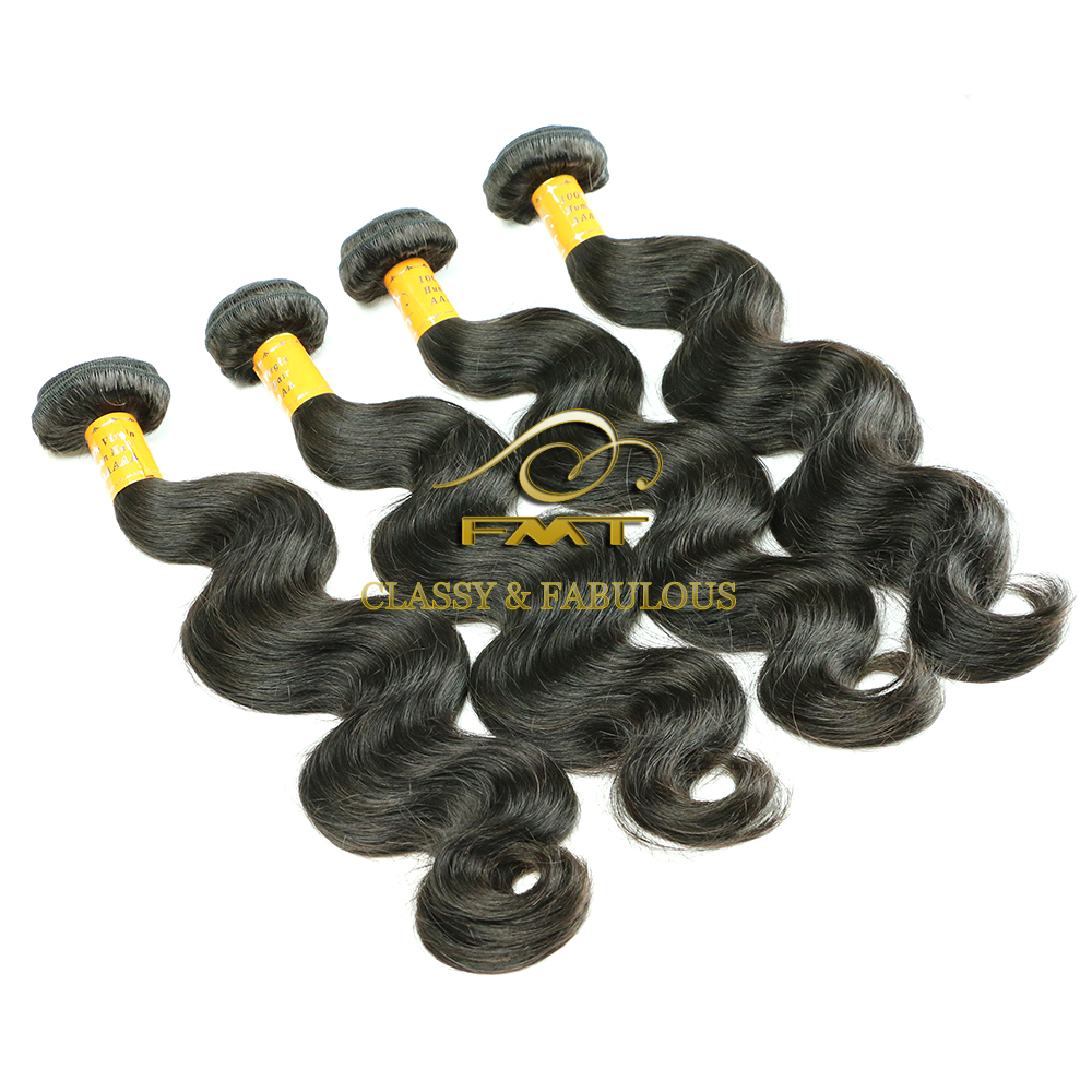8A Grade Super Quality No Shedding Free tangle Brazilian Hair 1B Natural Color 100% Human Hair