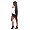 Customized 32 34 36 38 40 Inch Long Real Brazilian Raw Virgin Human Hair Extensions For Black Women