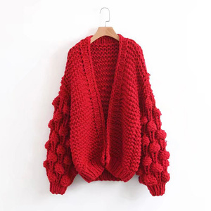 2018 Brand names sweaters lazy 5 GG hand knitted sweater women cardigan
