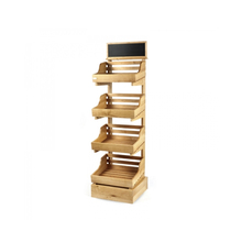 New Good Quality Price Wooden Wine Display Shelf Stand Wholesale