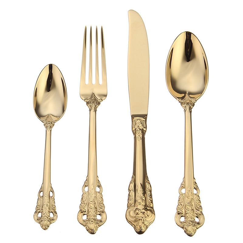 Online Buy Wholesale Gold Plated Cutlery Set From China