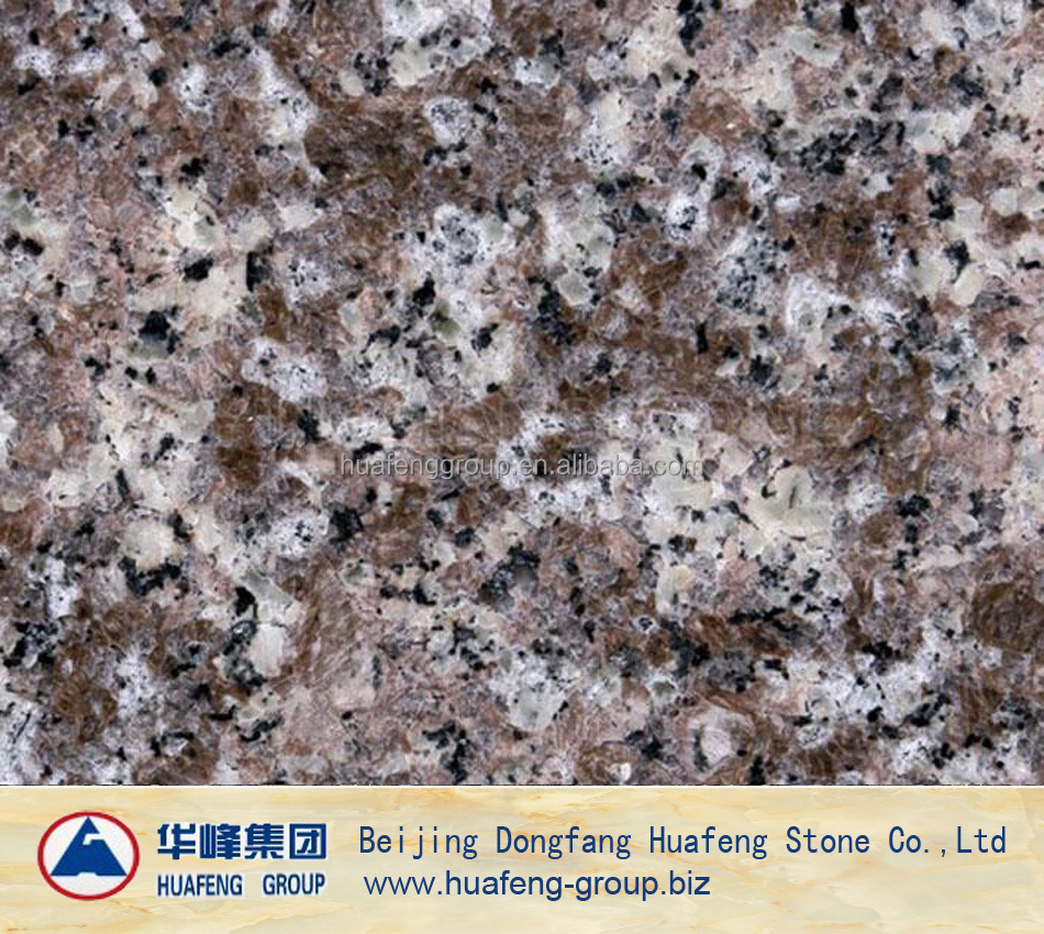 red peach blossom granite slabs for shower walls