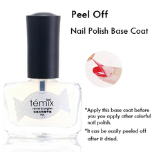 1 Pc Transparent Nail Polish Base Coat Healthy Rapid Dry Easy Peel Off Regular Nail Polish