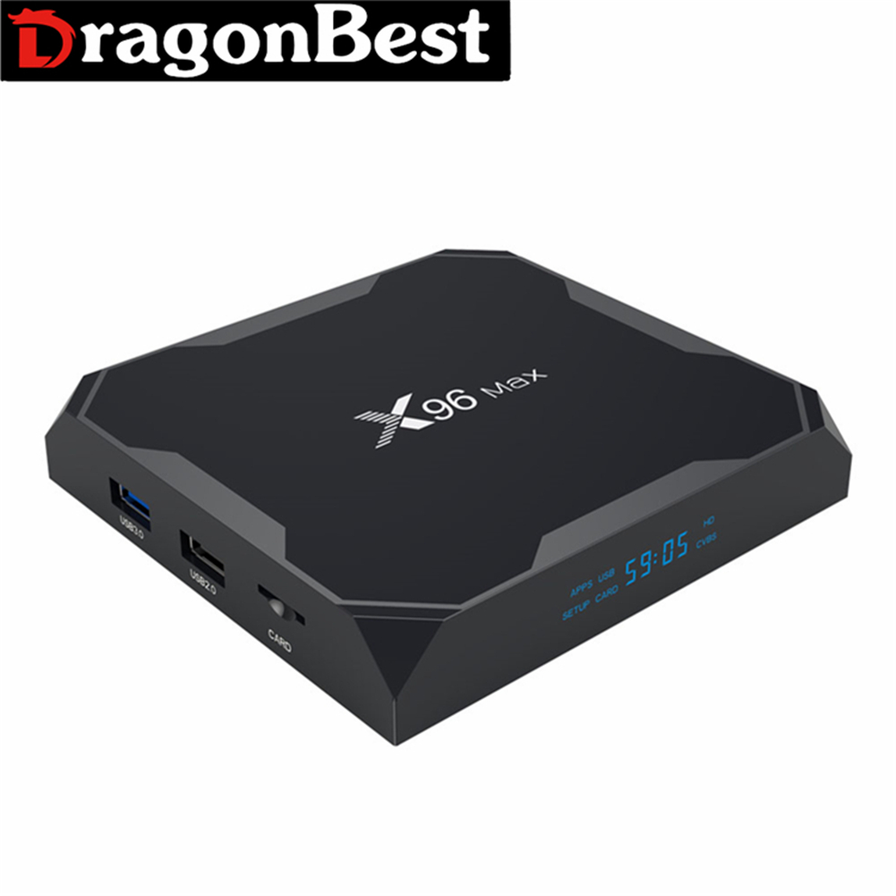 Globale Universale TV Box X96 Max S905X2 Android 8.1 4G 32g KD player Google Play Store Internet IPTV box