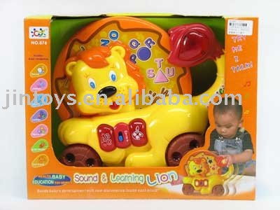 learning toy,battery operated lion toy with sound learing function,with EN71,EN62115