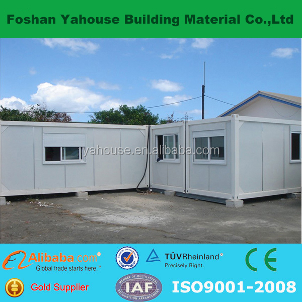 Beautiful color sandwich panal light steel prefabricated container house for sales with ISO9001 AS/CE certificate