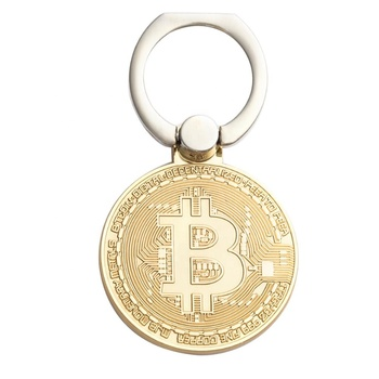 New product ideas factory wholesale custom hot selling bitcoin coin phone ring