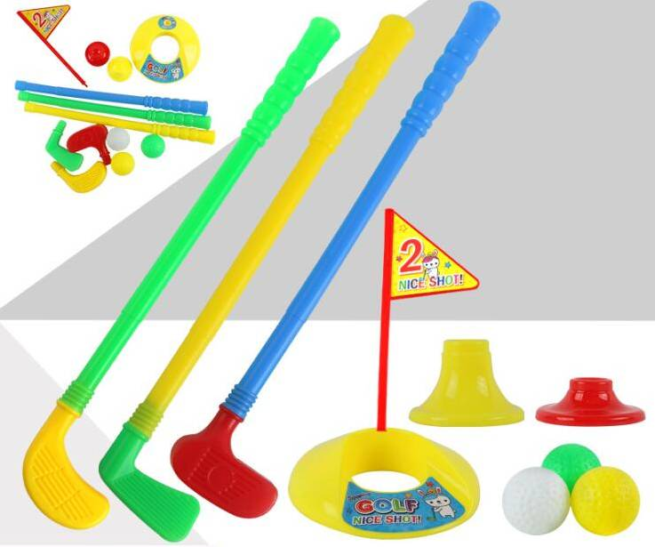 Cheap Colorful Kids Childrens plastic Golf Club Set