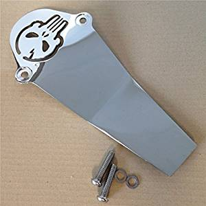 HK MOTO- Chrome Skull Aluminum Drive Shaft Cover For Yamaha V-Star 650 1100 Classic