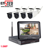 4Ch 10'' LCD Surveillance Cameras OEM Factory Security Monitoring Nvr Wifi Wireless Cctv Kit
