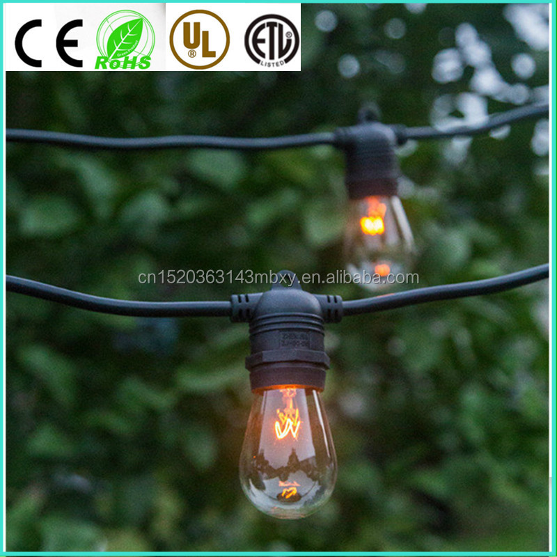 LED kohls string lights virtual filament led 2W 4W 5W 6W 10m 15m Linkable LED Light Strings for Party Decoration OEM