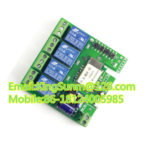 1. Ac 220v Wifi Wireless Switch Relay Delay Module 4-way Control ...