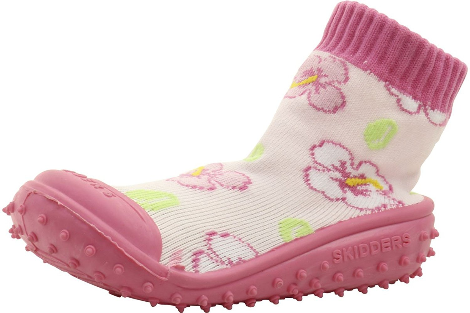 3d245b905dc0b5 Get Quotations · Skidders Infant Toddler Girl s Skidproof Hibiscus Toss  Pink Sneakers Shoes