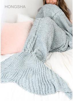 Winter Blanket For Adult Knit Mermaid Tail Blanket Crochet Sleeping