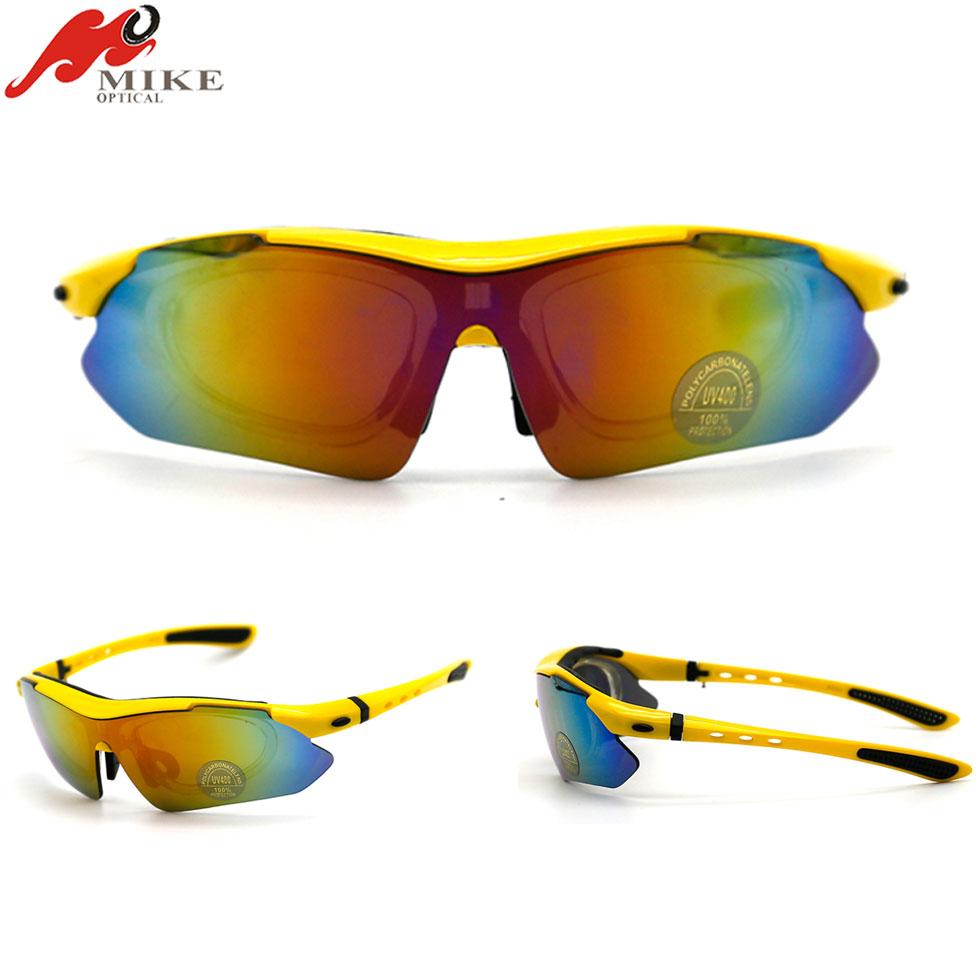 Nuckily alta qualità sport occhiali da sole fashion uomini e donne equitazione Outdoor occhiali, Uomo, white yellow