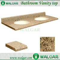 Hot Sale top quality 61-in W x 22-in D Giallo Veneziano Granite Undermount Double Sink Bathroom Vanity Top
