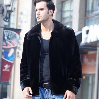 3a65fb412c Fall Plus Size Luxury Faux Fur Coat Windbreaker Men Black Mink ...