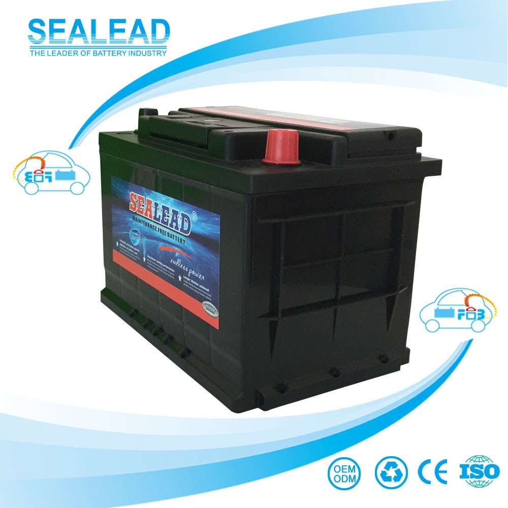 sealead brand cheap price MF 12v 66ah AUTO car battery lead acid battery