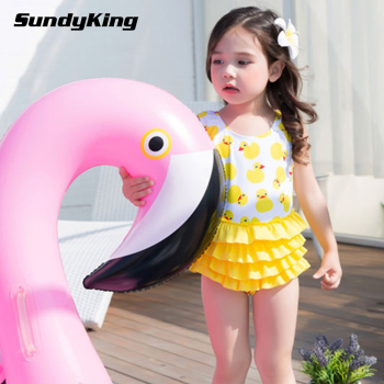 Custom Wholesale Girls Child Swimming Costume One Piece Swimsuit