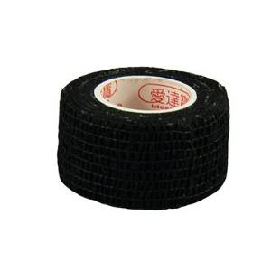Pack of 3 Rolls Waterproof Self Adhesive Bandage Tape Finger Joints Wrap Sports Care (1inch*6yds, Black)