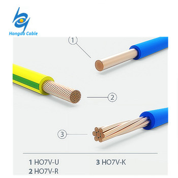 H07v-u 6mm2 Single Solid Core Pvc Insulated Cables Copper Wire 6mm ...