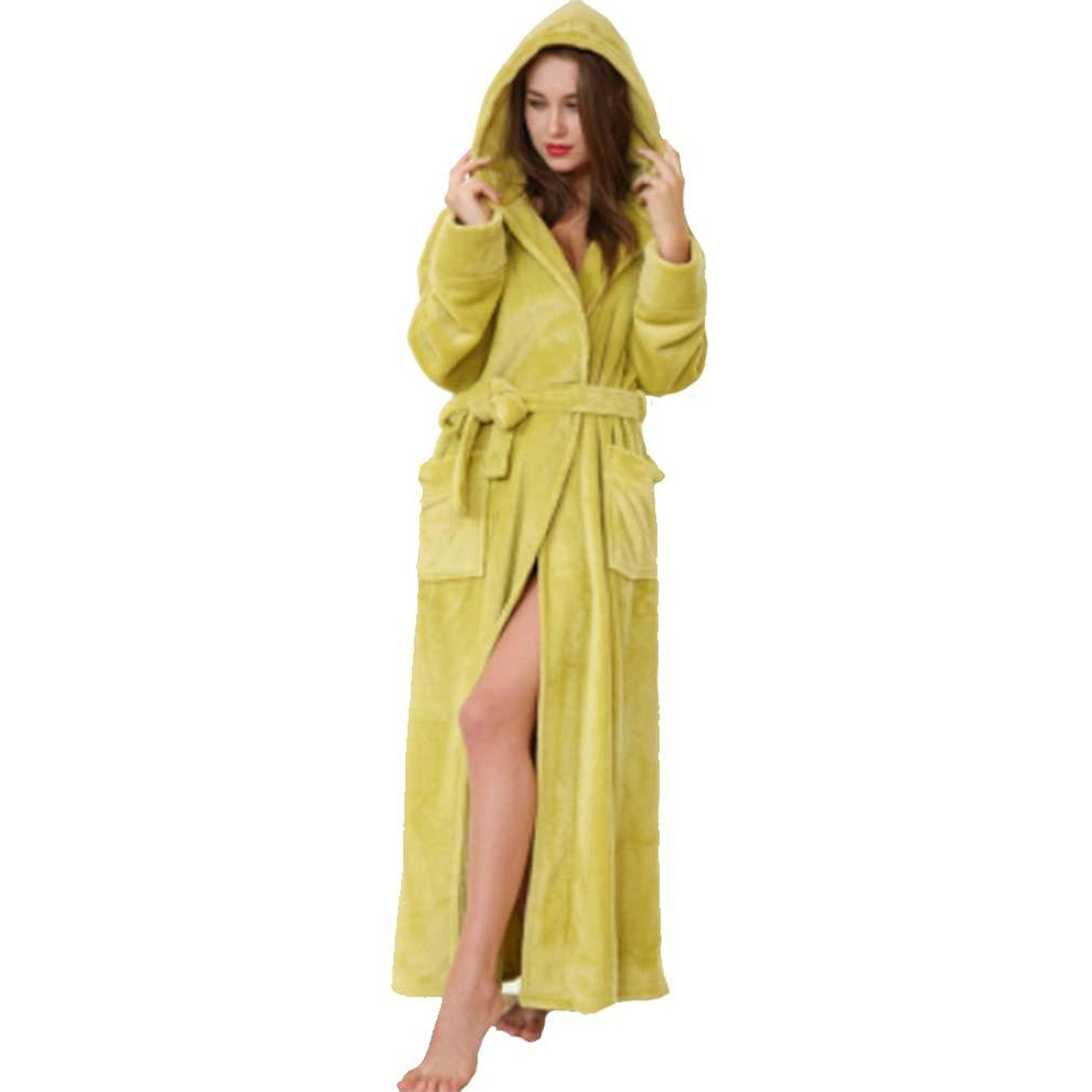 Get Quotations · moxin Mens Fleece Robe 0b7cc8a5f