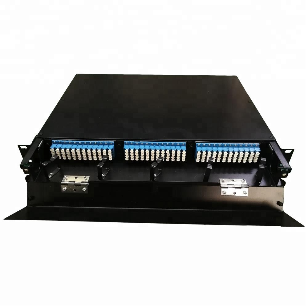 FTTH 12 24 48 96 144 Port Fiber Optic Rack Mount Patch Panel/ODF