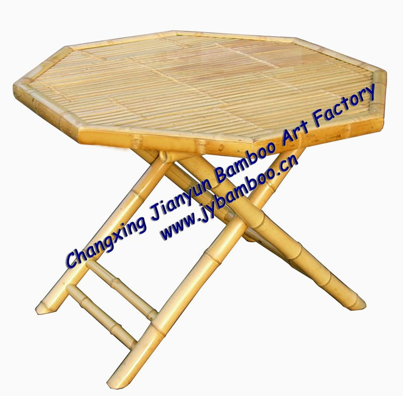 folding bamboo table