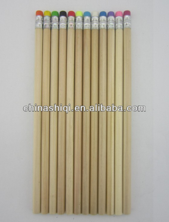 Cheap natural wooden colored pencils