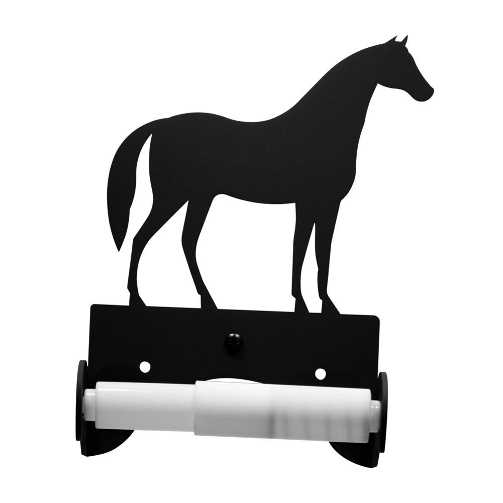 Iron Traditional Style Horse Toilet Roll Tissue Holder - Heavy Duty Metal Toilet Paper Holder, Toilet Tissue Holder, Toilet Paper Dispenser, Toilet Roll Dispenser