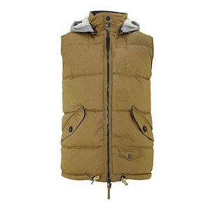 Custom Duck and Cover Mens Hooded Vest/Western Down Vest Wholesale