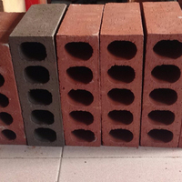 Clay multi-row bricks, red wall block, factory direct sales