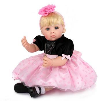 83a2e87d31f KAYDORA 20 inch silicone bebe Reborn dolls Girls Lifelike Princess Doll  Soft Toys