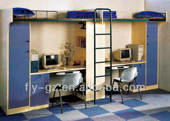 SB 10 Bunk Bed With Study Table