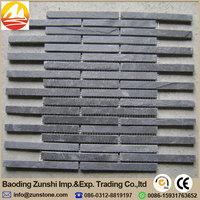 High Quality Natural Black Mosaic For Bathroom Wall