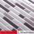 High quality backsplash tile self-stick 3d grey mix adhesive vinyl mosaic tiles