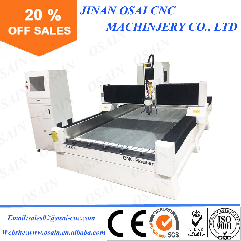 China Acrylic / MDF/ PVC / Metal / Stone / Furniture / Door Making Cutting Engraving Machine 1325 CNC Wood Router For Sale