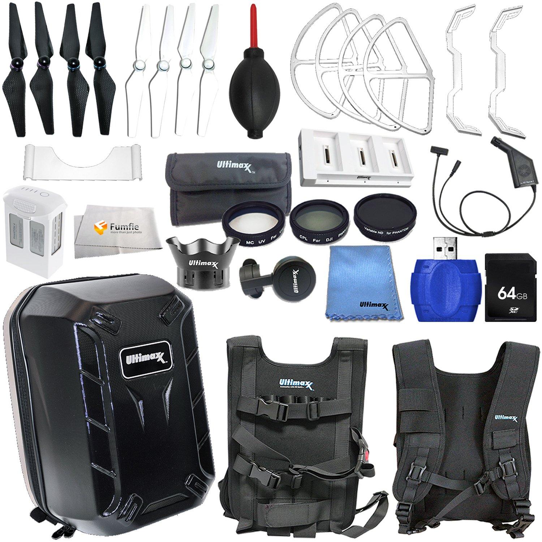 Buy Accessory Kit For Dji Phantom 4 Includes Hard Shell Backpack Battery Charging Hub Intelligent Flight